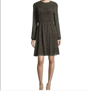 Ditsy Floral Smocked L/S Michael Kors Dress
